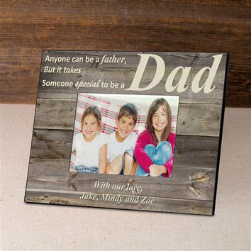 Personalized Father's Day Frame - BarnwoodCream