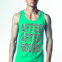 "Neon Laser Reactive Tank Top : "" AFTER AFTER HOURS"" Screenprint glow, blacklight , rave, edm, party tank"