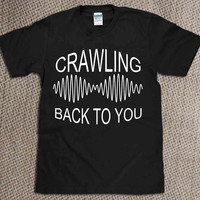 arctic Monkeys,crawling back to you  for T Shirt Mens and Girls screenprint