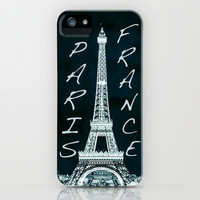 La Tour Eiffel - The Eiffel tower inverse with text iPhone & iPod Case by Bruce Stanfield