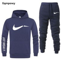New Sport Suit  Hoodie Men Casual Cotton Warm Sweatshirts