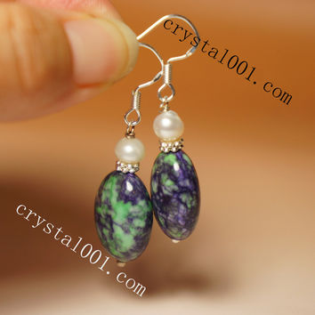 Handmade Natural Rainbow Sugilite Gemstone Earrings