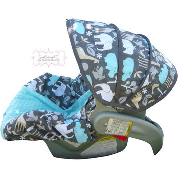 Zoology Sea with Saltwater Blue Infant Car Seat Cover