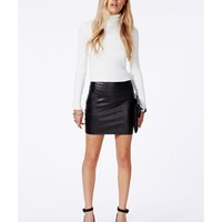 Missguided - Rica Faux Leather Bodycon Mini Skirt