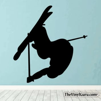 Skiing Wall Decal - Ski Sticker #00011
