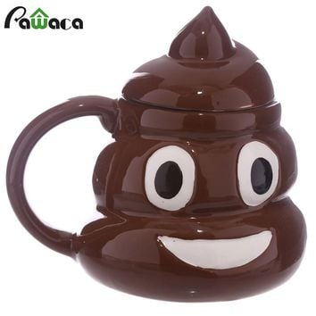 Poo Shape Emoji Coffee Mug 3D Ceramic Cup