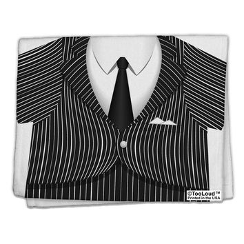 "Pinstripe Gangster Jacket Printed Costume 11""x18"" Dish Fingertip Towel All Over Print"