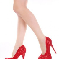 Red Rhinestone Studded Faux suede Sexy Platform Heels @ Amiclubwear Heel Shoes online store sales:Stiletto Heel Shoes,High Heel Pumps,Womens High Heel Shoes,Prom Shoes,Summer Shoes,Spring Shoes,Spool Heel,Womens Dress Shoes,Prom Heels,Prom Pumps,High Heel