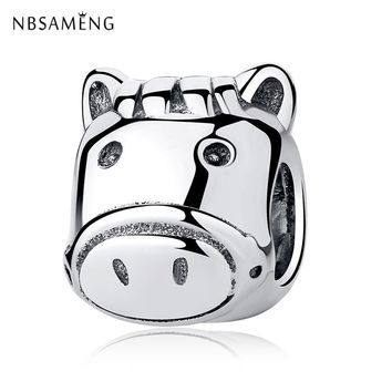 Authentic 925 Sterling Silver Charm Bead Remarkable Horse Pony Charms Fit Pandora Bracelets & Bangles DIY Women Jewelry Making