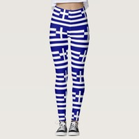 Leggings with flag of Greece