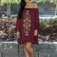 Perfect Daydream Dress - Merlot