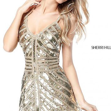 Sherri Hill Short Sequin Homecoming Dress