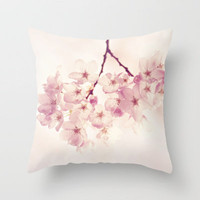 cherry blossoms Throw Pillow by Sylvia Cook Photography | Society6