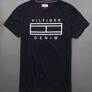 ONETOW Tommy Hilfiger Denim Navy T-Shirt at PacSun.com