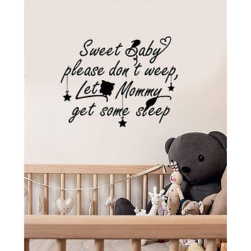 Vinyl Wall Decal Baby Room Quote Nursery Decoration Idea Decor Stickers Mural (ig5575)