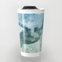 Geometric Flying Green Sea Turtle Travel Mug by Nirvana.K | Society6