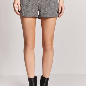 Cuffed Tweed Shorts