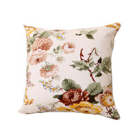 Flower  Square Decor Pillow Cover