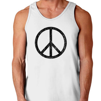 Peace Sign Symbol - Distressed Loose Tank Top