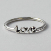 Love Ring Sterling silver with poetic words by HeartCoreDesign