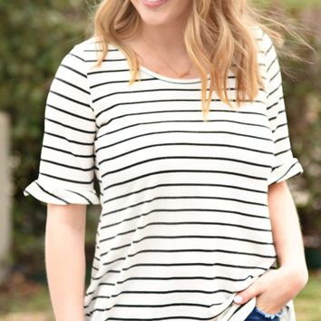 Time After Time Top - Navy