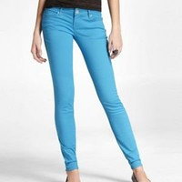 STELLA COLORED JEAN LEGGING - BRIGHT TEAL at Express