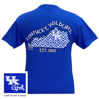 New UK Kentucky Wildcats Chevron State Girlie Bright T Shirt