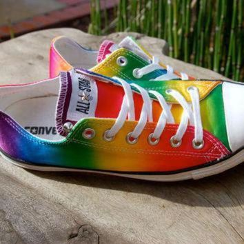DCCK1IN studded converse rare satin rainbow new listing low top studded converse