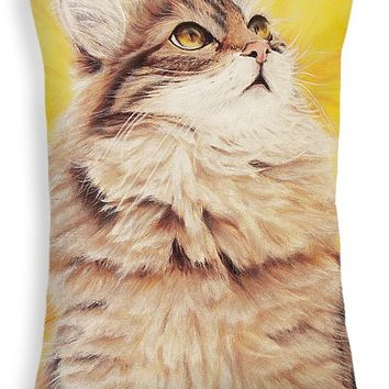 "Homesick Cat Throw Pillow for Sale by Kathleen Wong - 20"" x 14"""