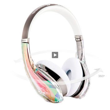 Headphone Monster Diamond Tears Edge Over-ear - White - 128295