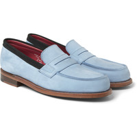 London Collections. Men - Sibling x Grenson Nubuck Penny Loafers | MR PORTER