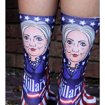 Hillary Clinton Socks - Vibrant, Unisex Democrat Hillary Clinton for President 2016 Socks