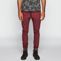 Charles And A Half Mens Twill Jogger Pants Blackberry  In Sizes