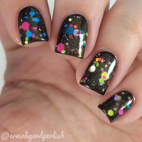 Hot Air Balloon ~ Neon & Holographic Glitter Jelly 5 Free Nail Polish by MDJ Creations