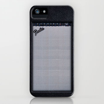 Retro Black fender electric Guitar amp amplifier apple iPhone 4 4s, 5 5s 5c, iPod & samsung galaxy s4 case