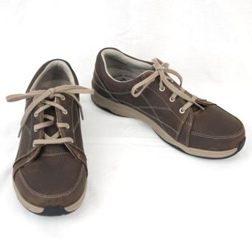 Ahnu Brown Leather Shoes Mens Oxford Size 9 Lace Up Casual  F19615F