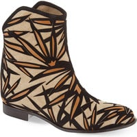 JIMMY CHOO Mina leather and canvas ankle boots
