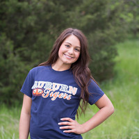 Auburn University Tigers Navy T-Shirt