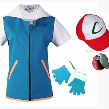Ash Ketchum Pokemon Trainer Cosplay