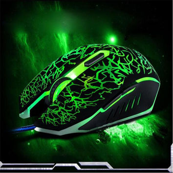 Colorful LED Backlight 4000DPI Optical Wired Gaming Mouse