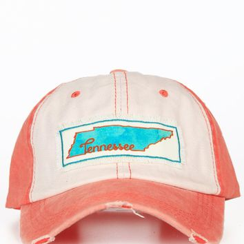 Water Color Tennessee Patch Hat