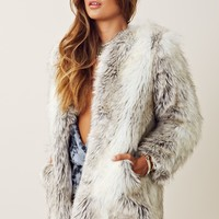 B Sable Chelsea Faux Fur Jacket