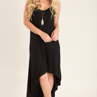 Caroline Black High Low Dress
