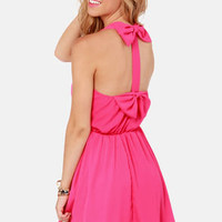 Twice as Nice Hot Pink Dress