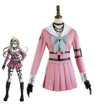 Danganronpa V3 Iruma Miu Cosplay Costume Girls School Uniforms Sailor Suit Halloween Carnival Rabbit Outfit Custom Made Full Set