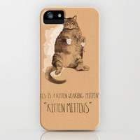 Kitten Mittens iPhone Case by MaryAube | Society6