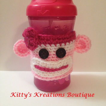 Love Monkey Coffee/ Sippy Cup Cozy's - Any Color Available