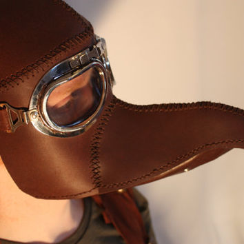Leather Plague doctor steampunk mask