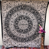 Zulu Tapestry, Tribal Tapestry, Mandala, Star Tapestry, Wall Hanging, Wall Decor, Bedspread