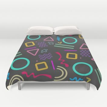 Back to the 80's Duvet Cover by Xiari
